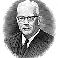 EARL WARREN (1891-1974) Print by Granger