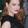 Emma Stone Wearing Fred Leighton Poster by Everett