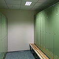 Empty Locker Room Print by Jaak Nilson