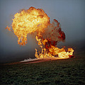 Fireball From Liquid Petroleum Gas Explosion Print by Crown Copyrighthealth & Safety Laboratory