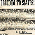 Freedom To Slaves Print by Photo Researchers, Inc.