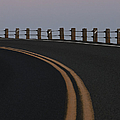 Full Moon Over a Curving Road Poster by Jetta Productions, Inc