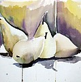 Graceful Pears Print by Mindy Newman