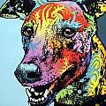 Greyhound LUV Print by Dean Russo