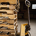 Hand Truck and Wooden Pallets Poster by Shannon Fagan