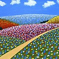 Hills of Flowers Print by Frederic Kohli