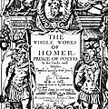 HOMER TITLE PAGE, 1616 Print by Granger
