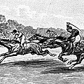 HORSE RACING, 1900 Print by Granger