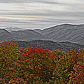 Infinite Smoky Mountains Print by DigiArt Diaries by Vicky B Fuller