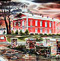 Iron County Courthouse II Print by Kip DeVore