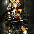 Japanese Samurai Doll Print by Christine Till