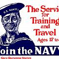 Join The Navy Poster by War Is Hell Store