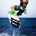 kitesurfer Poster by Stylianos Kleanthous