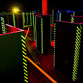 Laser Game Area With Obstacles Print by Corepics