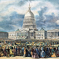 LINCOLN INAUGURATION, 1865 Print by Granger
