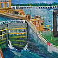 Lock and Dam 19 Print by Jame Hayes