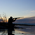 Man Duck Hunting Poster by RubberBall Productions