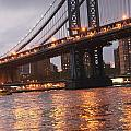 Manhattan Bridge Print by Nina Mirhabibi