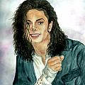 Michael Jackson - Will You Be There Print by Nicole Wang