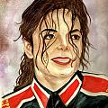 Michael Jackson - You Are My Life Poster by Nicole Wang