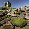 Minard Castle And Rocky Beach Minard Print by Trish Punch