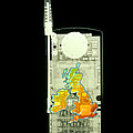 Mobile Phone X-ray Print by D. Roberts