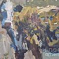 Modern Abstract Cow Painting Print by Robert Joyner