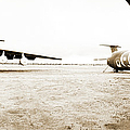 Mothballed C-141s Print by Jan Faul