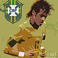 Neymar Art Deco Print by Lee Dos Santos