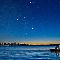 Orion Over Vancouver, Canada Print by David Nunuk