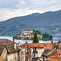 Orta - overlooking the island of San Giulio Poster by Joana Kruse
