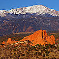 Pike's Peak and Garden of the Gods Print by Jon Holiday