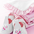 Pink baby clothes for infant girl Print by Elena Elisseeva