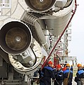 Proton-m Rocket Before Launch Print by Ria Novosti