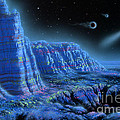 Pulsar Planets II Print by Lynette Cook