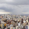 Rain Shower Approaching Downtown Sao Paulo Print by Jeremy Woodhouse