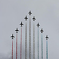 Red Arrows vertical Print by Jasna Buncic