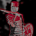Red Knight Poster by Lillian Michi Adams