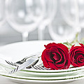 Romantic dinner setting Print by Elena Elisseeva