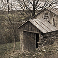 Rustic Hillside Barn Pasture Poster by John Stephens