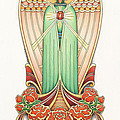 Scroll Angel - Roselind Print by Amy S Turner