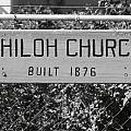 Shiloh Church Sign Birds Landing CA Print by Troy Montemayor