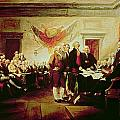 Signing the Declaration of Independence Print by John Trumbull