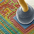Silicon Chip Micro-wire, Sem Print by Power And Syred