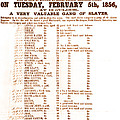 Slave Auction Notice Print by Photo Researchers, Inc.