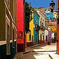 Street of Color Guanajuato 2 Poster by Olden Mexico