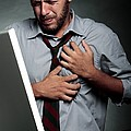 Stress-related Heart Attack Print by Mauro Fermariello