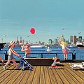 Sunday Morning Lonsdale Quay Print by Neil Woodward