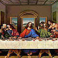 The Last Supper Print by Leonardo da Vinci