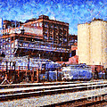 The Old C and H Pure Cane Sugar Plant in Crockett California . 5D16770 Print by Wingsdomain Art and Photography